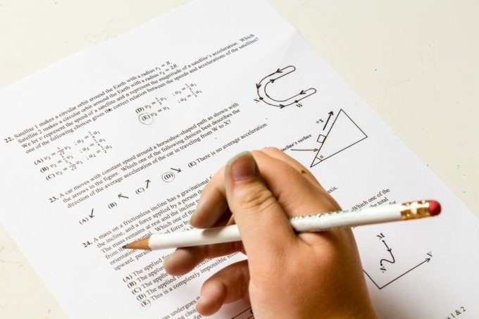 宿題の問題を解く